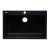 "Alfi brand Black 33"" Single Bowl Drop In Granite Composite Kitchen Sink, 33"" W x 22"" D x 9-1/2"" H"