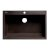 "ALFI brand 33"" Single Bowl Drop In Granite Composite Kitchen Sink in Chocolate, 33"" W x 22"" D x 9-1/2"" H"