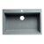 "ALFI brand 33"" Single Bowl Drop In Granite Composite Kitchen Sink in Titanium, 33"" W x 22"" D x 9-1/2"" H"