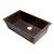 "ALFI brand 33"" Single Bowl Undermount Granite Composite Kitchen Sink in Chocolate, 33"" W x 19-3/8"" D x 9-7/8"" H"