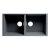 "ALFI brand 34"" Undermount Double Bowl Granite Composite Kitchen Sink in Titanium, 33-7/8"" W x 17-3/4"" D x 8-1/4"" H"