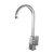 Alfi brand Brushed Nickel Gooseneck Single Hole Bathroom Faucet