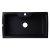 "Alfi brand Black 35"" Drop-In Single Bowl Granite Composite Kitchen Sink, 34-5/8"" W x 19-11/16"" D x 9-1/8"" H"