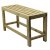 "Alfi brand 26"" Solid Wooden Slated Single Person Sitting Bench, 26"" W x 10"" D x 14"" H"