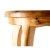 Natural Wood Seating Close Up View