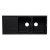 "Alfi brand Black 46"" Double Bowl Granite Composite Kitchen Sink with Drainboard, 45-3/4"" W x 19-3/4"" D x 9-1/16"" H"