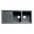 "ALFI brand 46"" Double Bowl Granite Composite Kitchen Sink with Drainboard in Titanium, 45-3/4"" D x 19-3/4"" W x 9-1/16"" H"