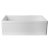 "Alfi brand White 30"" Decorative Lip Apron Single Bowl Fireclay Farmhouse Kitchen Sink, 29-7/8"" W x 19-3/4"" D x 10"" H"
