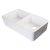 "Alfi brand White 32"" Double Bowl Lip Apron Fireclay Farmhouse Kitchen Sink with 1-3/4"" Lip, 31-3/4"" W x 17-3/4"" D x 8"" H"