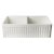 """Alfi brand Biscuit 32"""" Fluted Apron Double Bowl Fireclay Farmhouse Kitchen Sink, 32-3/4"""" W x 19-7/8"""" D x 10"""" H"""