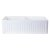 """32"""" White Fluted Apron Product View - 3"""
