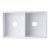 """32"""" White Fluted Apron Product View - 5"""
