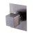 "Alfi brand Brushed Nickel Modern Square 3 Way Shower Diverter, 3-3/4"" W x 5-1/8"" D x 2-1/2"" H"
