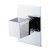 "Alfi brand Polished Chrome Modern Square 3 Way Shower Diverter, 3-3/4"" W x 5-1/8"" D x 2-1/2"" H"