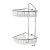 "Alfi brand Polished Chrome Corner Mounted Double Basket Shower Shelf Bathroom Accessory, 8-1/4"" W x 8-5/8"" D x 20-1/2"" H"