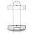 """Alfi brand Polished Chrome Wall Mounted Double Basket Shower Shelf Bathroom Accessory, 11"""" W x 5-7/8"""" D x 16-1/2"""" H"""
