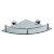 "Alfi brand Polished Chrome Corner Mounted Glass Shower Shelf Bathroom Accessory, 12-3/4"" W x 9-7/8"" D x 3-1/2"" H"