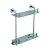 """Alfi brand Polished Chrome Wall Mounted Double Glass Shower Shelf Bathroom Accessory, 11-1/4"""" W x 4-3/4"""" D x 15-1/2"""" H"""