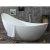 """73"""" White Soaking Slipper Bathtub"""