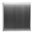 """12""""x12"""" Brushed Stainless Steel Back View"""