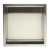 "12""x12"" Brushed Stainless Steel Front Empty View"