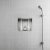 "ALFI brand 12"" x 12"" Square Single Shelf Bath Shower Niche in Polished Stainless Steel, 12"" W x 4"" D x 12"" H"