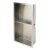 """12""""x24"""" Brushed Stainless Steel Empty Angle View"""