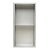 """12""""x24"""" Brushed Stainless Steel Empty Front View"""