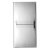 """12""""x24"""" Polished Stainless Steel Back View"""