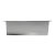 """12""""x24"""" Polished Stainless Steel Overhead Back View"""