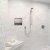 "ALFI brand 16"" x 16"" Square Single Shelf Bath Shower Niche in Brushed Stainless Steel, 16"" W x 4"" D x 16"" H"