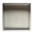 "16"" x 16"" Brushed Stainless Steel Empty Front View"