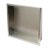 "16"" x 16"" Brushed Stainless Steel Angle View"