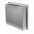 """16"""" x 16"""" Polished Stainless Steel Angle Back View"""