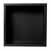 12'' - Black Single Shelf - Front - Empty