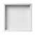 16'' - White Matte - Front View - Empty