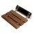 "ALFI brand 14"" Folding Teak Wood Shower Seat Bench in Brushed Nickel, 13-5/8"" W x 13"" D x 4-1/4"" H"