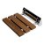 "ALFI brand 14"" Folding Teak Wood Shower Seat Bench in Polished Chrome, 13-5/8"" W x 13"" D x 4-1/4"" H"