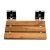 """ALFI brand 16"""" Folding Teak Wood Shower Seat Bench with Square Wall Mounted Brackets in Polished Chrome, 15-3/4"""" W x 13-3/8"""" D x 4-1/4"""" H"""