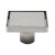 """ALFI brand 5"""" x 5"""" Modern Square Shower Drain with Solid Cover in Polished Stainless Steel, 5-1/4"""" W x 5-1/4"""" D x 3-1/4"""" H"""