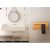 "ALFI brand 32"" x 16"" Live Edge Cedar Wood Horizontal Towel Warmer in Polished Chrome, 31-1/2"" W x 5"" D x 15-3/4"" H"