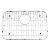 "Alfi brand Solid Stainless Steel Kitchen Sink Grid, 20-1/2"" W x 13-5/8"" D x 1"" H"