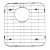 """Alfi brand Right Solid Stainless Steel Kitchen Sink Grid, 13-3/4"""" W x 15"""" D x 1"""" H"""