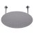 "Alfi brand 20"" Round Brushed Solid Stainless Steel Ultra Thin Rain Shower Head, 20"" Diameter x 1/8"" H"