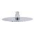 "Alfi brand Solid Polished Stainless Steel 8"" Round Ultra Thin Rain Shower Head, 8"" Diameter x 1/8"" H"