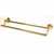 Double Towel Bar - Polished Brass