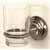 Glass Tumbler - Satin Nickel