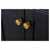 Onyx Black / Italian Carrara Top / Gold Hardware - Close-Up - Drawers View 2