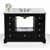 Onyx Black / Italian Carrara Top / Gold Hardware - Front Open View 1
