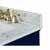 Heritage Blue / Italian Carrara Top / Gold Hardware - Close-Up - Top View 2